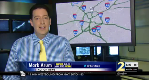 WSB TV Traffic Reporter Mark Arum