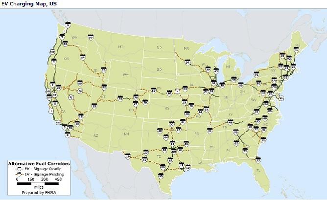 I And I In Georgia Named National Alternative Fuel Corridor - Georgia map i 75