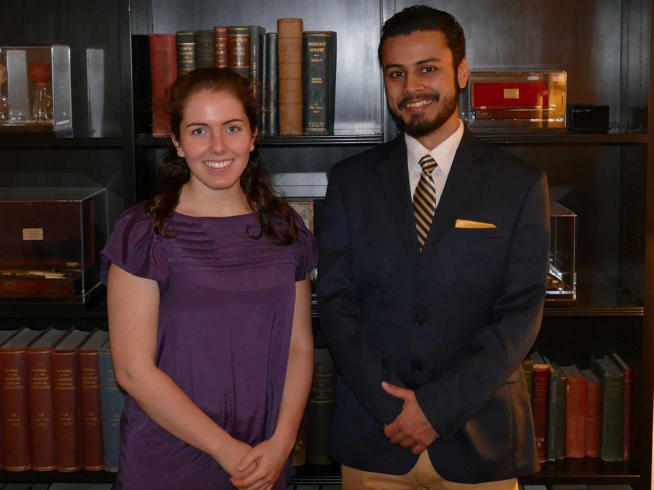 2016 Wayne Shackelford Scholarship Winners Zoe Turner-Yovanovitch and Anirban Chatterjee